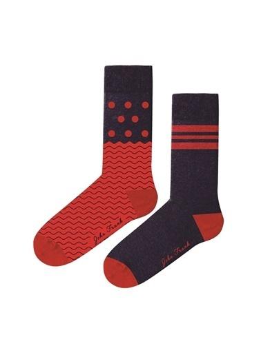 John Frank John Frank Women İkili Uzun Çorap Renkli